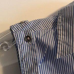 Express Tops - Express button up striped sleeveless top